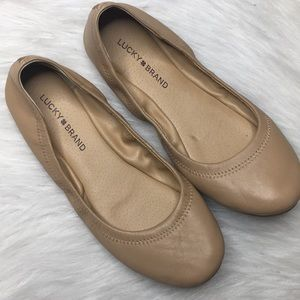 Lucky Brand Emmie ballet flats 8.5 wide nude